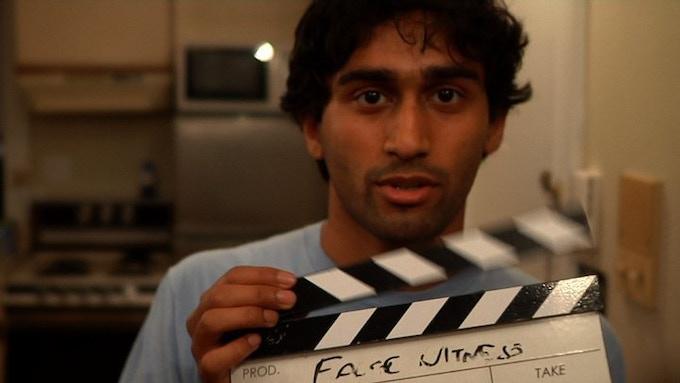 "Producer Arun Narayanan on the set of his 2013 short film ""False Witness"""