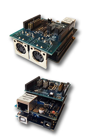 Picture of prototype UMMU Box v2 boards