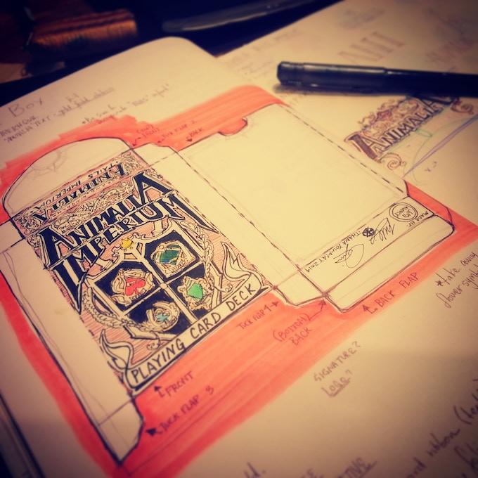Concept tuck box sketch by Miso