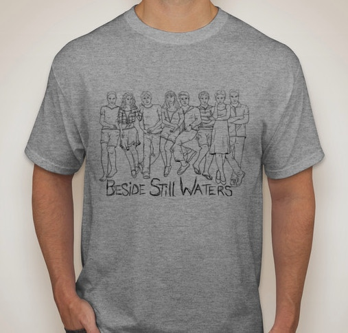 """""""Beside Still Waters"""" T-Shirt (featuring custom artwork by Chaney Trotter)"""