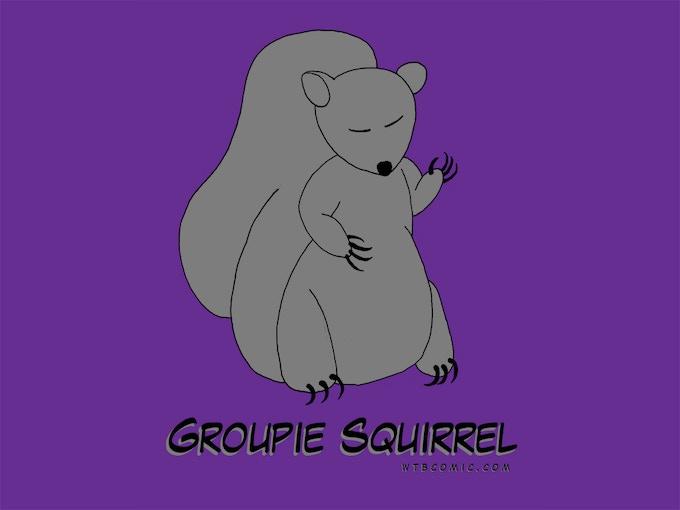 Purple Groupie Squirrel