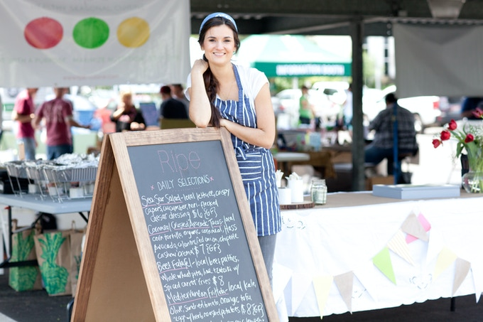 The Ripe Pop Up Market Cafe on opening day in May of 2013