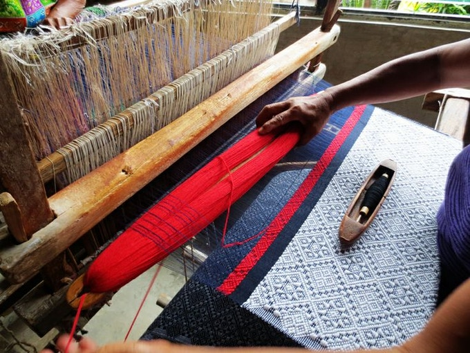 Weaving inabel in Ilocos, the Northern Philippines