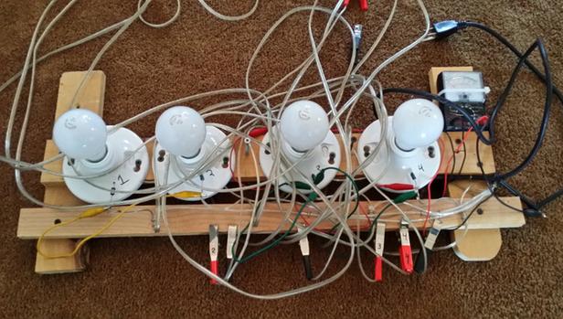 Crude Lightbulb/Diode method - DANGEROUS!