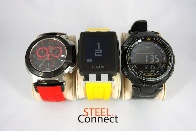 Tissot T-Race Vs Pebble Steel with Striking Yellow Sport Band Vs Casio Protek