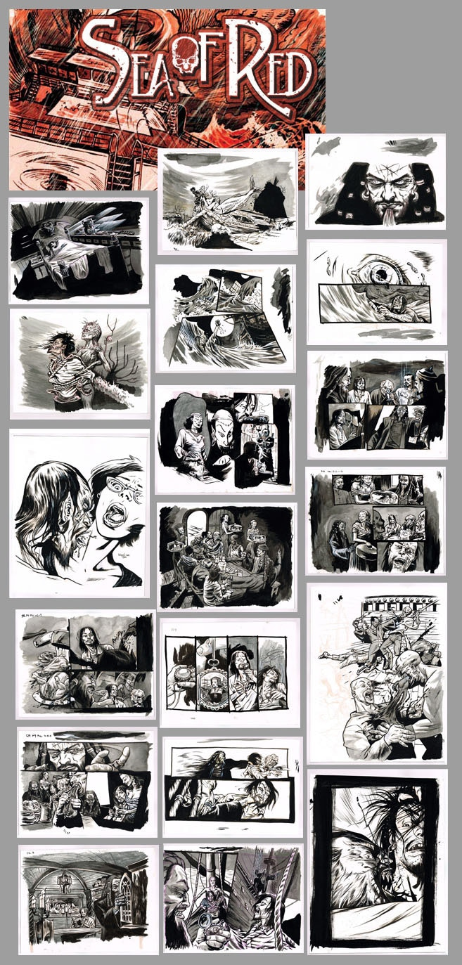 20, Mostly interiors from book one and two parts of the art from the cover of book two. Done to a script by Rick Remender & layout assists by Kieron Dwyer