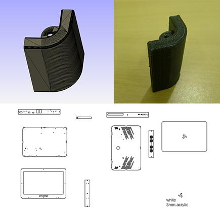 Laser-cut parts & 3D-Printed parts
