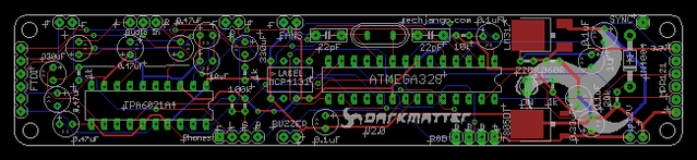 Xduino360 Board layout
