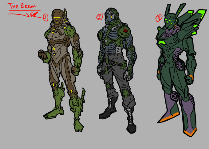 Jonathan's concept work for one of our heroes