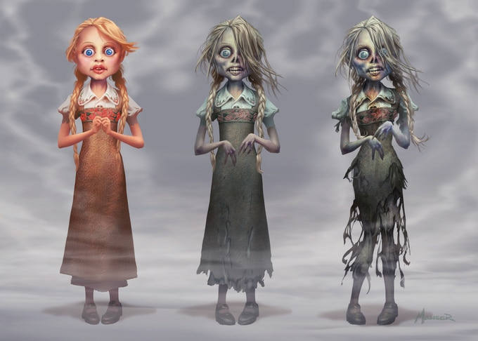 "From the episode, ""Frank and the Zombie Girl,"" concept art by Warren Manser."