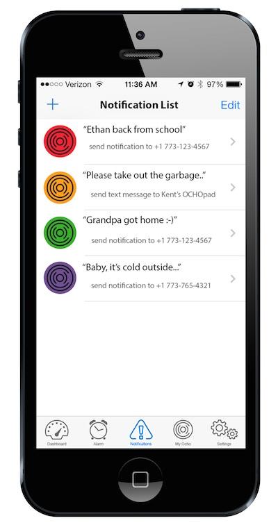 OCHO App included