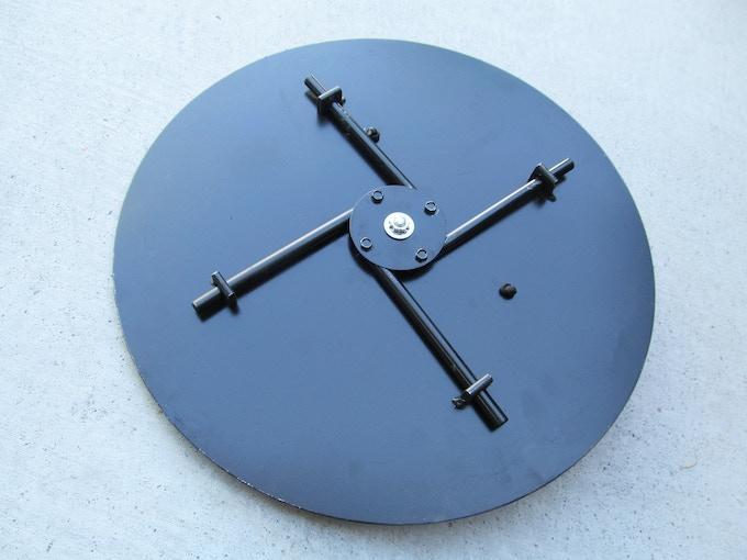 "Four 3/8"" steel pins keep it locked."