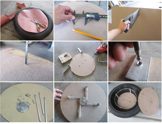 The original prototype was made from MDF and aluminum.