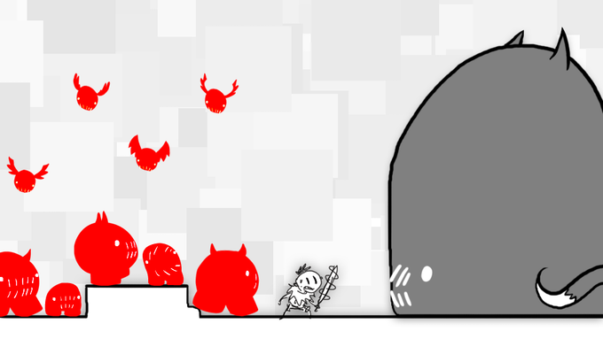 mock-up: viewers summon individual minions to help fight big bad things