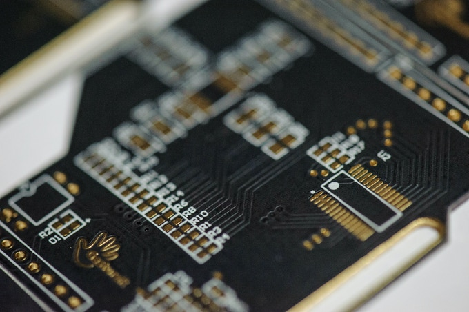 PCB sample ready for testing
