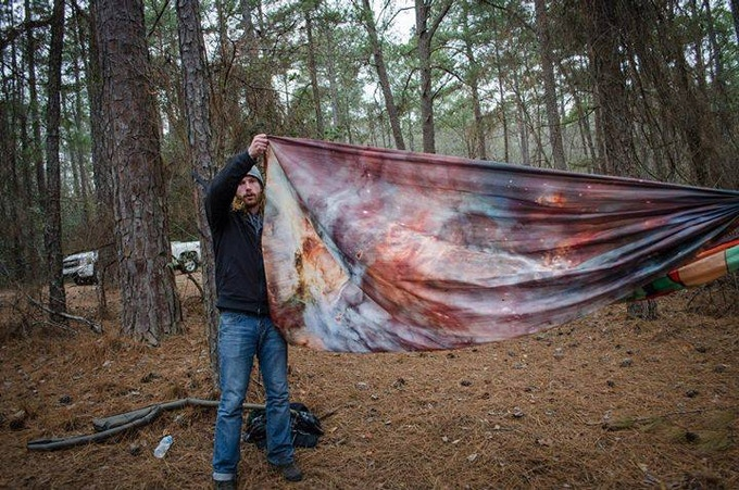 Here I am at the Palmetto State Hanger's Frozen Butt Hang January, 2014.  We camped in our hammocks for 3 nights in 13* weather!