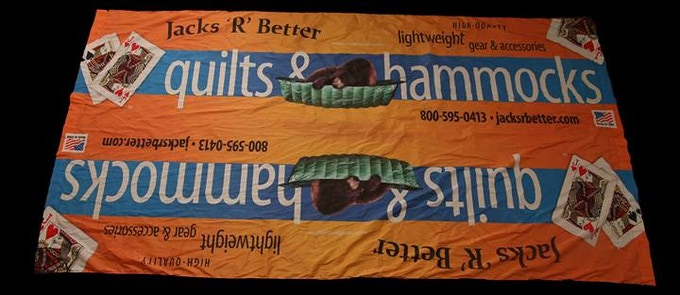 We made this for another hammock related company for them to use at trade shows!