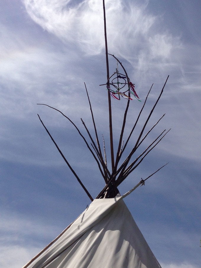 Russell's Teepee - used for healing and counseling sessions