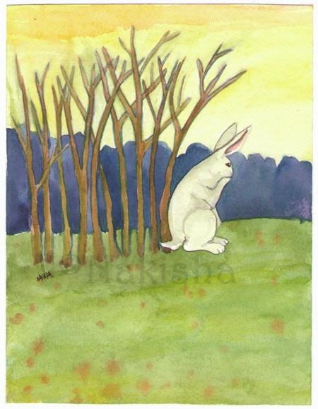 Ten of Sticks from the Rabbit Tarot