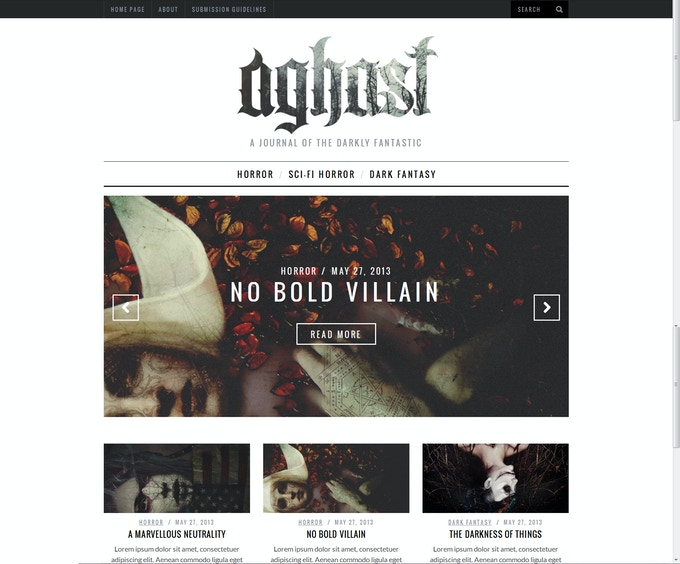 Aghast Website Mock Up
