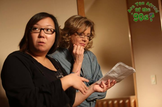 Writer/Director Kate Moran with star Kristine Sutherland