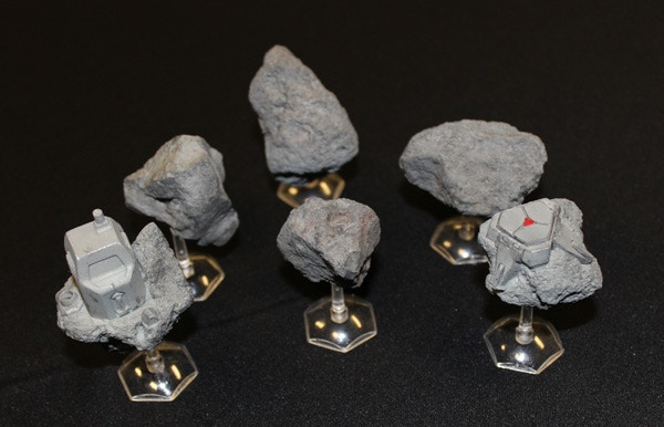 Space Battles Asteroid Pack (6 pieces) - $20 Add-On