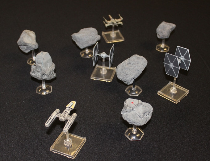 Asteroid Pack with Ships (not included) so show Scale
