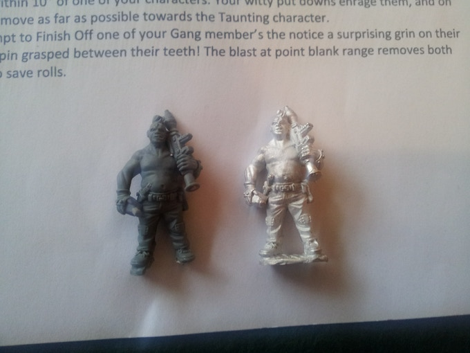 Fatboy master sculpt and production metal