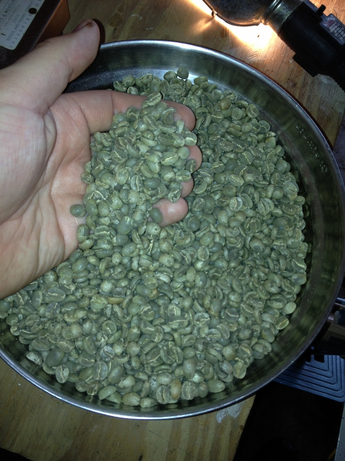 Some great green (raw) coffee!