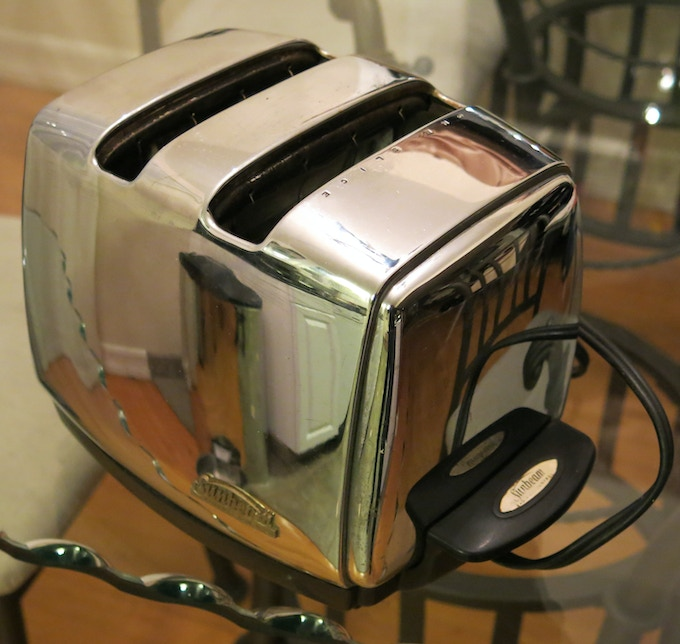 Ken's 1960's Sunbeam Toaster.  What happened to well engineered products that last?