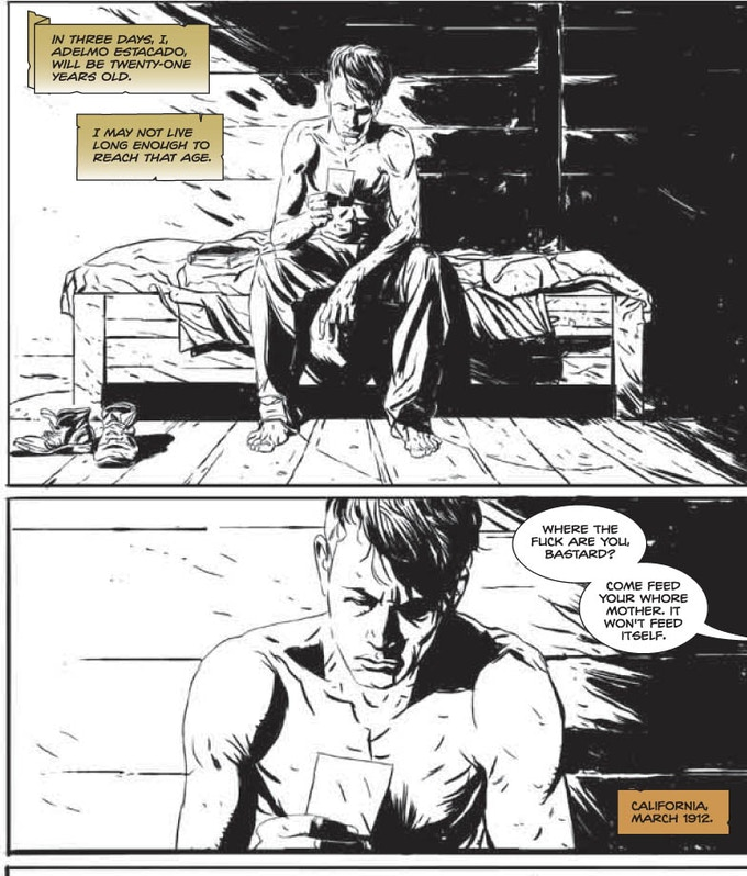 lettering from p.1 The Darkness: Cover Your Eyes/ courtesy Top Cow Entertainment
