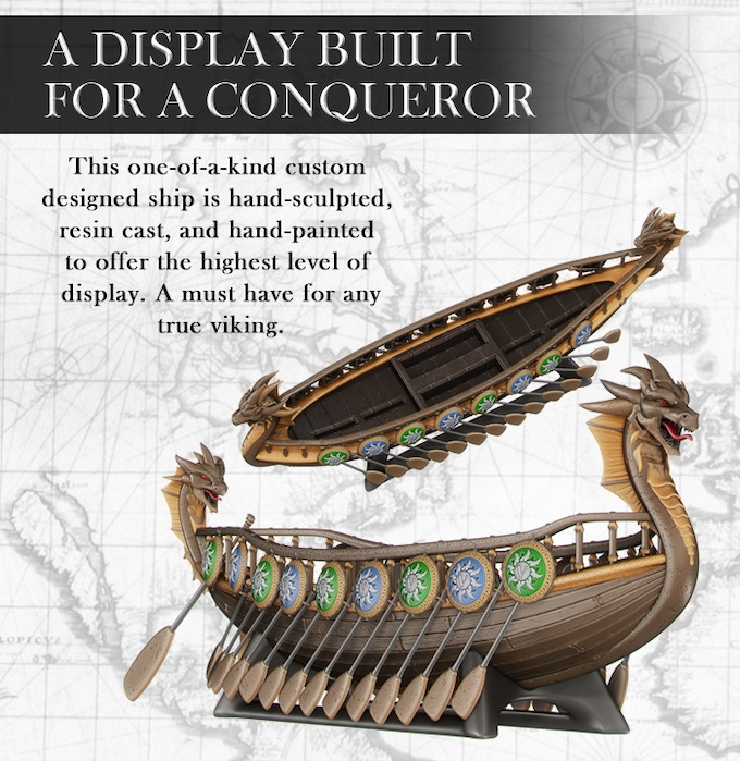 """This 13.5"""" x 5"""" display ship will hold BOTH decks and ALL 4 coins!"""