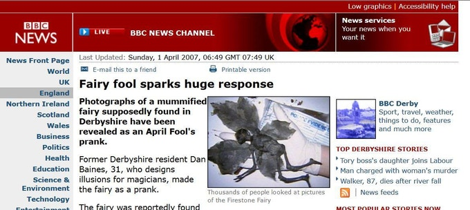 The Fairy hits the news!