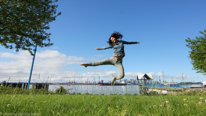 Eyoälha Jump for Joy Selfie :)