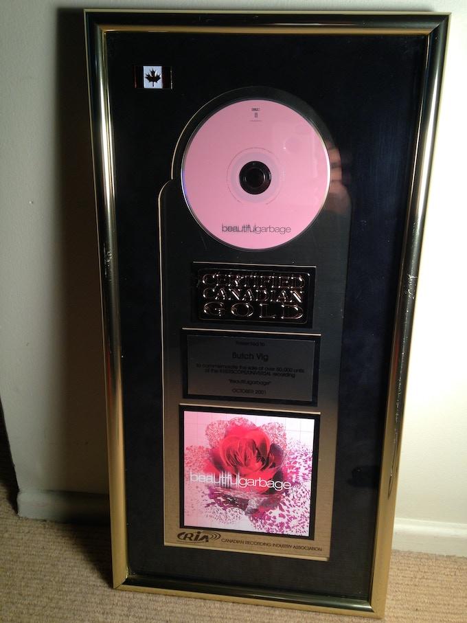 Garbage GOLD RECORD ! Beautiful Garbage 2001