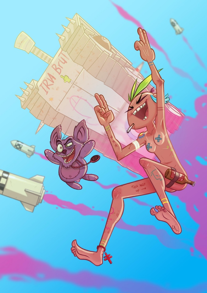 Camp Koala & Tank Girl by project artist Craig Knowles