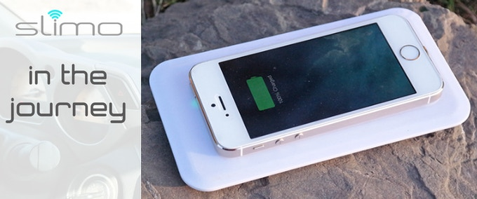 Choose Set pledge and you will receive Wireless-powerbank-transmitter and Slimo receiver. Take it wherever you go and charge your iPhone in the middle of nowhere.