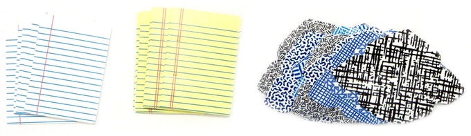 Miniature lined stationery for legal notes, or homework, or...? And security envelopes for secret missives!