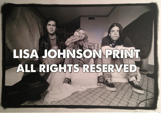 NIRVANA August 1993 Edgewater Hotel in Seattle Lisa Johnson Rock Photographer LIMITED Rock Print - very rare.