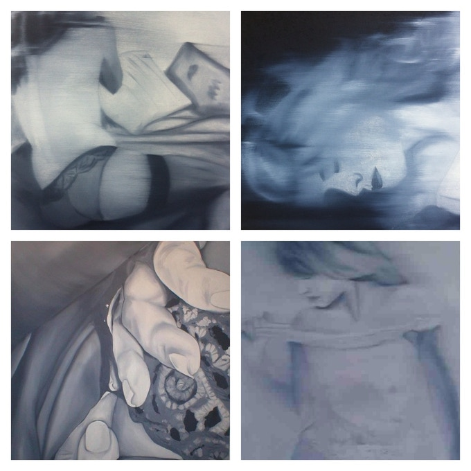 Examples of oil paintings.
