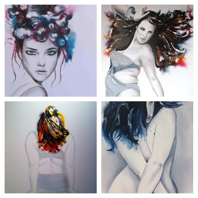Examples of Inks and drawn work.