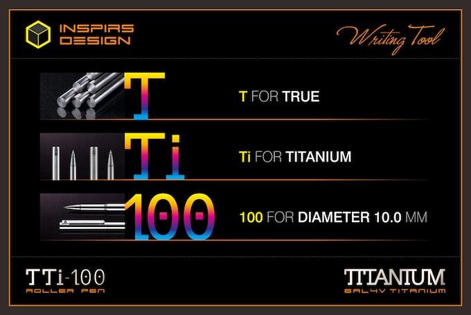 INSPIRS DESIGN-TTi-100 Titanium Roller Pen-About TTi-100
