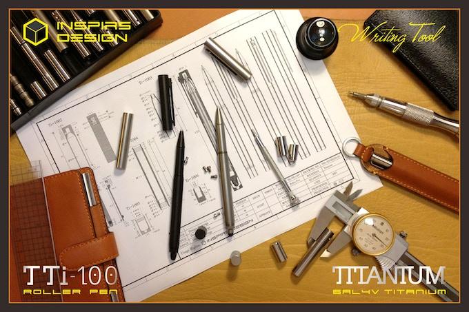 TTi-100 Titanium Roller Pen & Stylus-Design