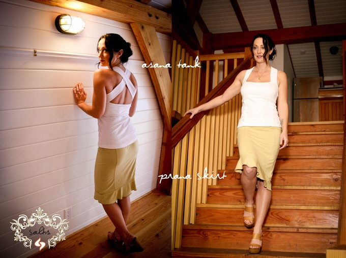 Asana Tank and Prana Skirt