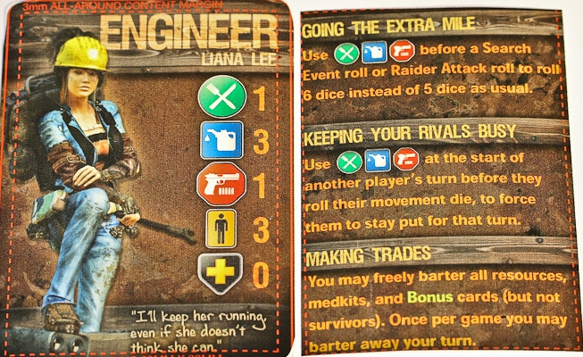 Sample Graphic Art by Josh Cappel. Engineer Character Card.