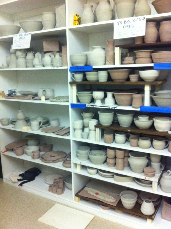We've been busy firing and are now getting ready for our FIRST glaze firing!