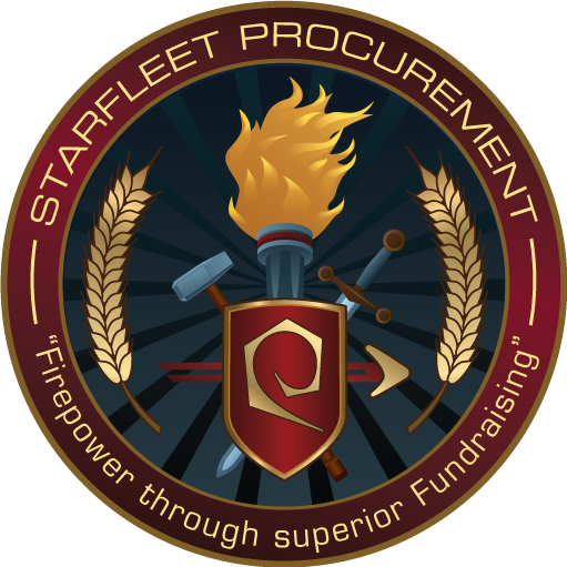 Limited Edition Starfleet Procurement Patch available ONLY to donors!