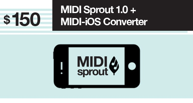 Connect your MIDI Sprout to your iPhone or iPad and listen to the music of nature through your favorite iOS synthesizer app. The iOS converter is available for all iPhone/iPad models.