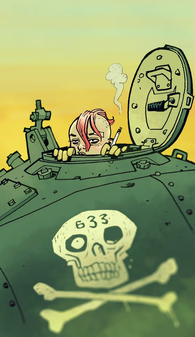 Tank Girl by project artist Philip Bond