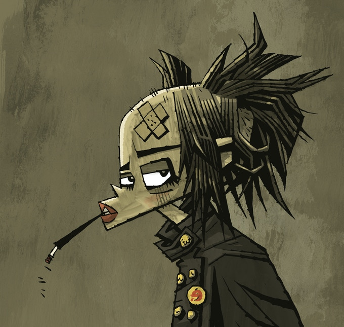 Tank Girl by project artist Jonathan Edwards